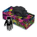 Manusi Graffiti Gloves Latex negre - L - 10buc