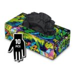 Manusi Graffiti Gloves Latex negre - M - 10buc