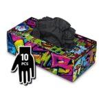 Manusi Graffiti Gloves Latex negre - XL - 10buc