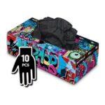 Manusi Graffiti Gloves Nitril negre - S - 10buc