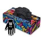 Manusi Graffiti Gloves Nitril negre - XL - 10buc
